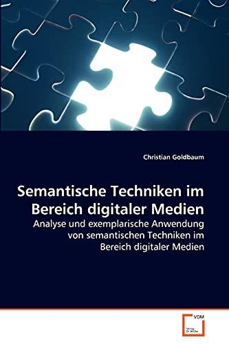 9783639261417: Semantische Techniken im Bereich digitaler Medien