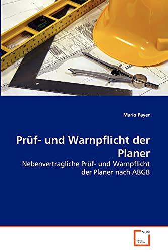 9783639270525: Prüf- und Warnpflicht der Planer