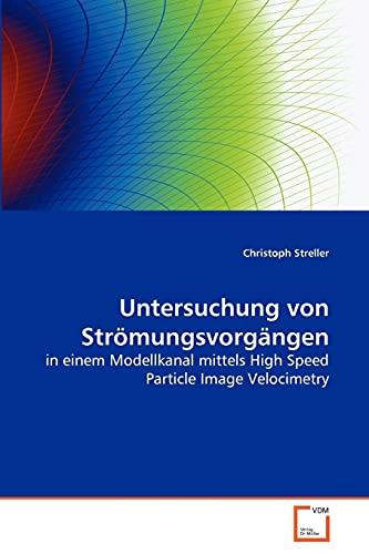 9783639271683: Untersuchung von Strömungsvorgängen: in einem Modellkanal mittels High Speed Particle Image Velocimetry