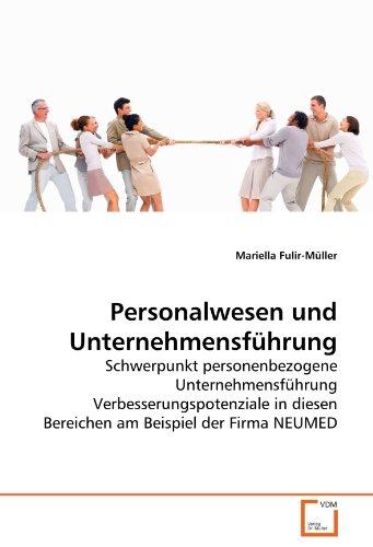 Personalwesen Und Unternehmensfhrung: Mariella Fulir-Müller