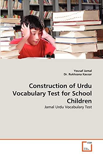 9783639295023: Construction of Urdu Vocabulary Test for School Children: Jamal Urdu Vocabulary Test