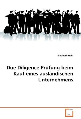 9783639320510: Due Diligence Prüfung beim Kauf eines ausländischen Unternehmens