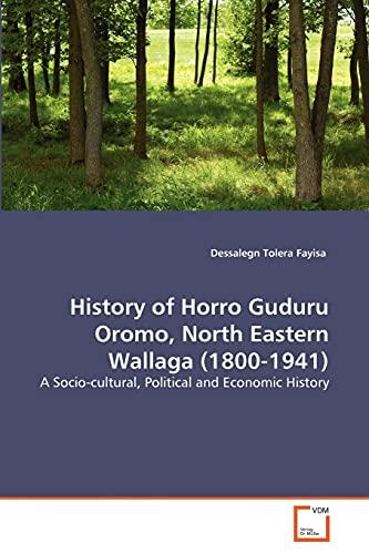 9783639343724: History of Horro Guduru Oromo, North Eastern Wallaga (1800-1941): A Socio-cultural, Political and Economic History