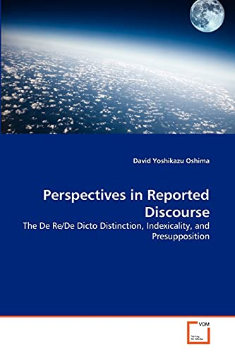 Perspectives in Reported Discourse: David Yoshikazu Oshima