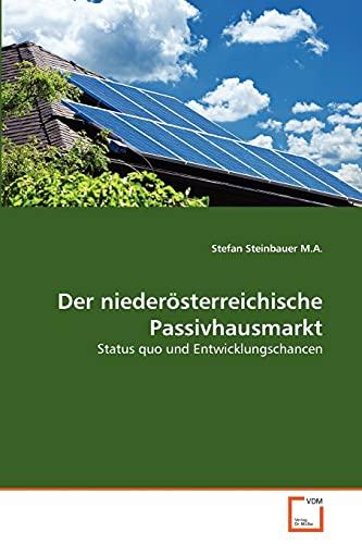Der Niederosterreichische Passivhausmarkt (Paperback): Stefan Steinbauer M a