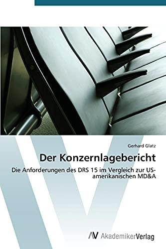 Der Konzernlagebericht (Paperback): Glatz Gerhard