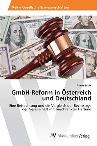 9783639400465: GmbH-Reform in Österreich und Deutschland