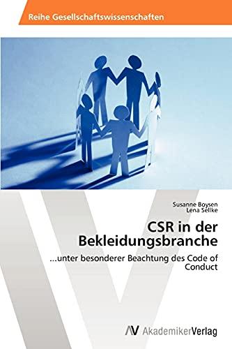 9783639458428: CSR in der Bekleidungsbranche