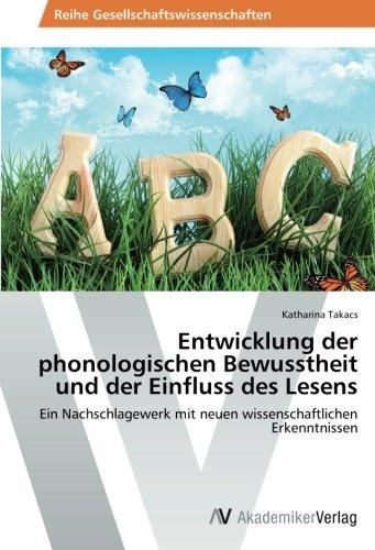 9783639491807: Entwicklung Der Phonologischen Bewusstheit Und Der Einfluss Des Lesens