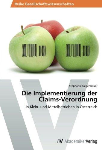 Die Implementierung Der Claims-Verordnung: Stephanie Gegenbauer