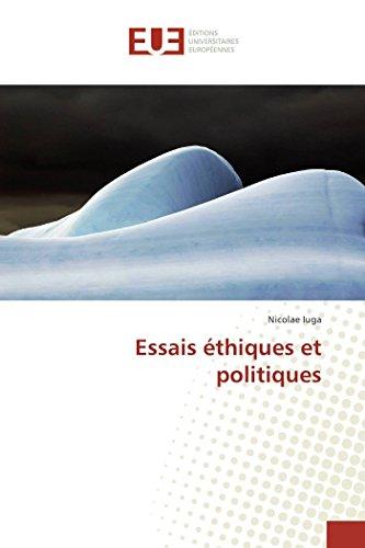 9783639505207: Essais éthiques et politiques (French Edition)