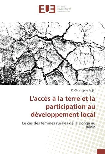 Landapos;accès à la terre et la participation: Adjin, K. Christophe