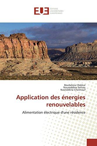 Application des énergies renouvelables: Boubekeur Dokkar