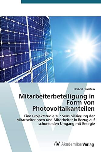 9783639760248: Mitarbeiterbeteiligung in Form von Photovoltaikanteilen