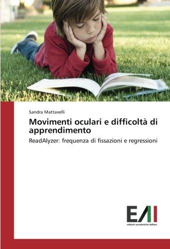 Movimenti oculari e difficoltà di apprendimento: Mattavelli, Sandra