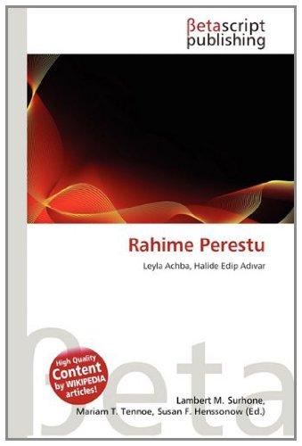 9783639941456: Rahime Perestu