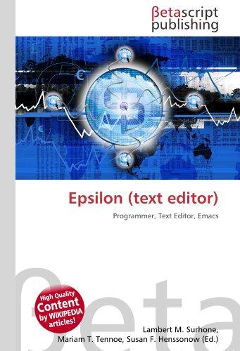 9783639954548: Epsilon (Text Editor)