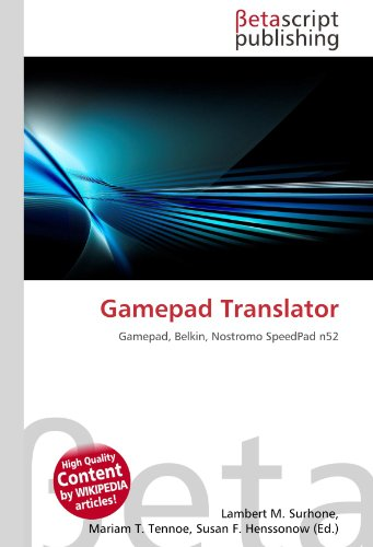 9783639997200: Gamepad Translator: Gamepad, Belkin, Nostromo SpeedPad n52