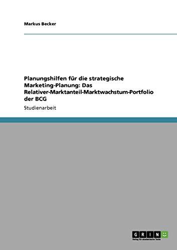 Planungshilfen Fur Die Strategische Marketing-Planung: Das ...