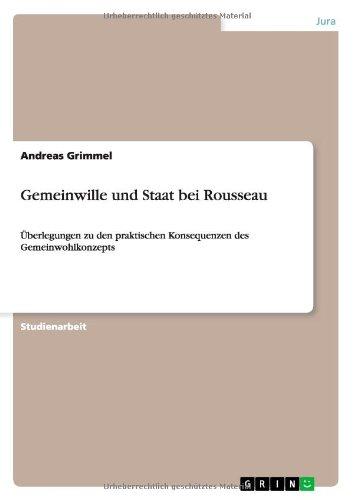 9783640143450: Gemeinwille Und Staat Bei Rousseau