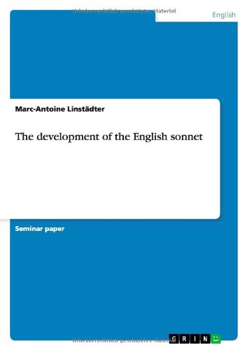9783640184415: The Development of the English Sonnet