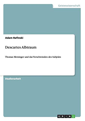 9783640205097: Descartes Albtraum (German Edition)