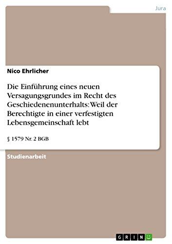 Die Einführung eines neuen Versagungsgrundes im Recht: Nico Ehrlicher
