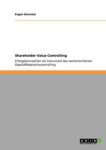 Shareholder Value Controlling: Eugen Stermetz