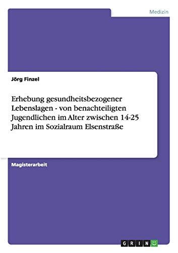 9783640227471: Erhebung gesundheitsbezogener Lebenslagen - von benachteiligten Jugendlichen im Alter zwischen 14-25 Jahren im Sozialraum Elsenstraße