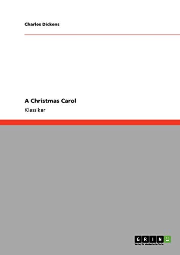 9783640227853: A Christmas Carol (German Edition)