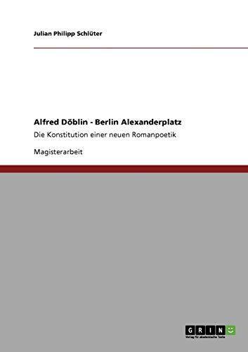 9783640233212: Konzept Eines Modernen Epos. Alfred Doblins