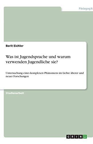 9783640244621: Jugendsprache (German Edition)
