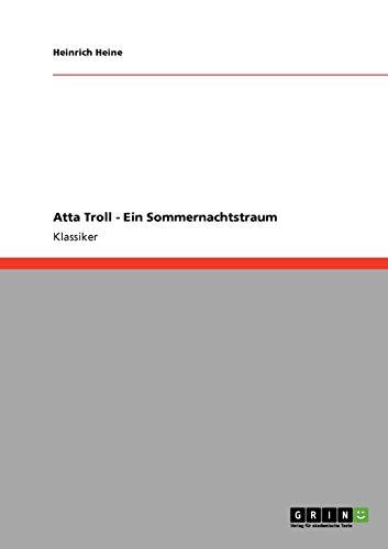9783640257195: Atta Troll - Ein Sommernachtstraum