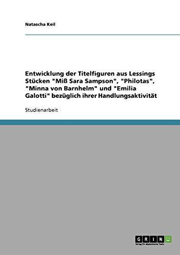 9783640268047: Entwicklung Der Titelfiguren Aus Lessings St Cken