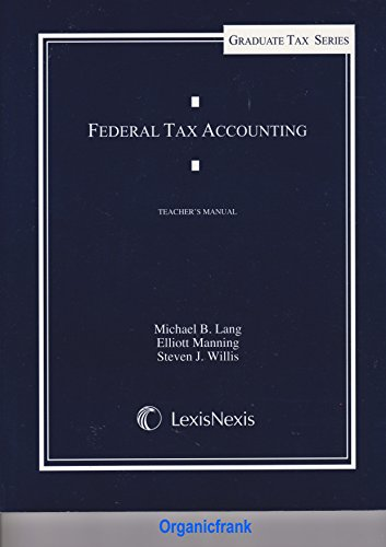 9783640300013: Federal Tax Accounting (Teacher's Manual)