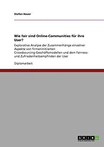 Wie Fair Sind Online-Communities Fur Ihre User?: Stefan Hauer