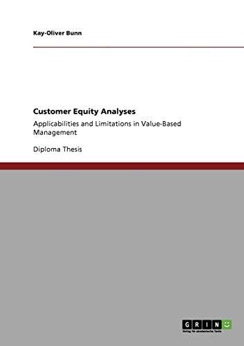 9783640316298: Customer Equity Analyses