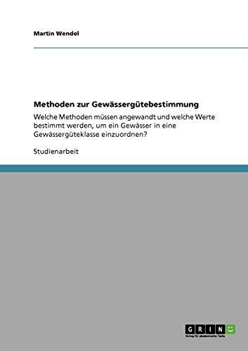 9783640320851: Methoden zur Gew�sserg�tebestimmung