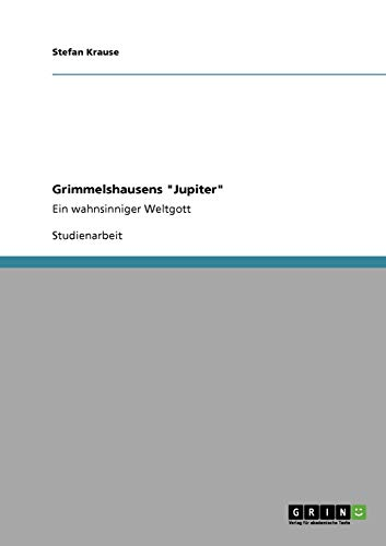 9783640333561: Grimmelshausens