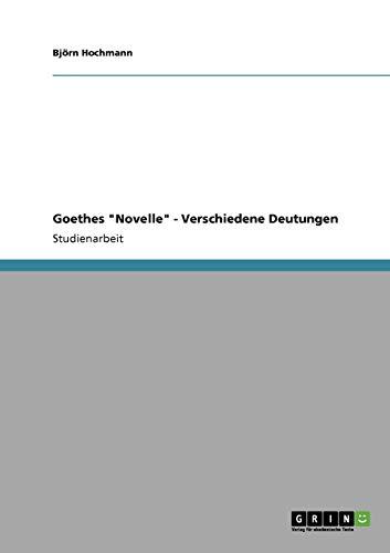 9783640335046: Goethes