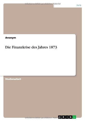 9783640358083: Die Finanzkrise des Jahres 1873