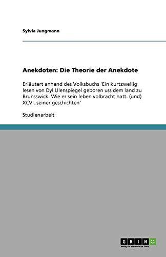 9783640369997: Anekdoten: Die Theorie der Anekdote