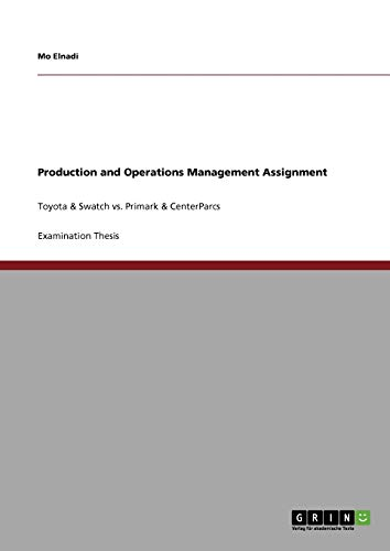 Production and Operations Management Assignment: Mo Elnadi
