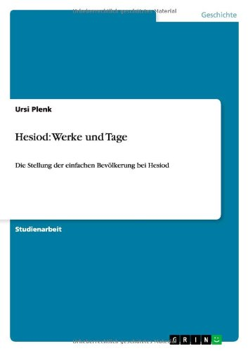 9783640387519: Hesiod: Werke und Tage (German Edition)