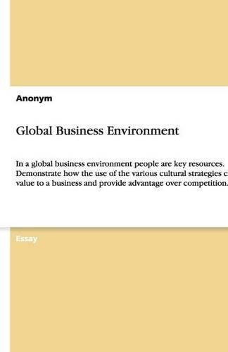 9783640395071: Global Business Environment