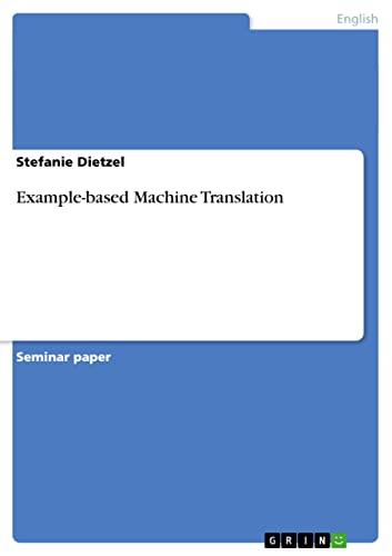 9783640396610: Example-based Machine Translation