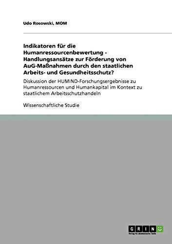 Indikatoren Fur Die Humanressourcenbewertung - Handlungsansatze Zur Forderung Von Aug-Massnahmen ...