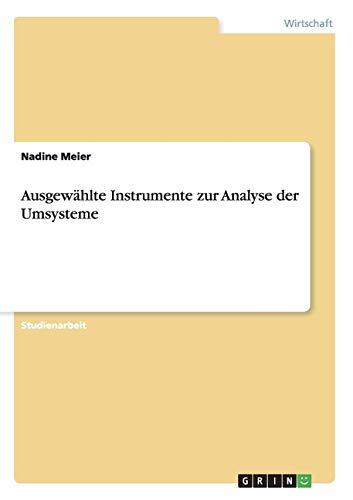 Ausgewahlte Instrumente Zur Analyse Der Umsysteme: Nadine Lo Vecchio