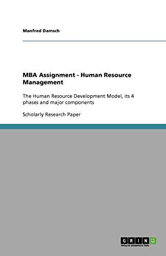 MBA Assignment - Human Resource Management: Manfred Damsch