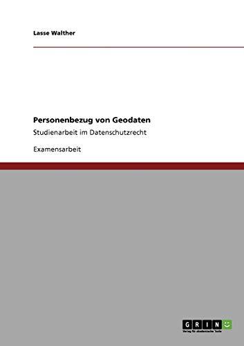 Personenbezug Von Geodaten: Lasse Walther